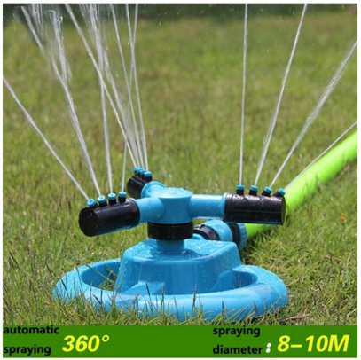 plastic 3-arm water whirler sprinkler
