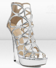 Cut out platform stiletto heel high heel dress shoes