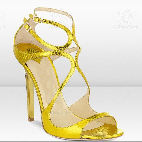 Fashion women high heel strappy dress shoes