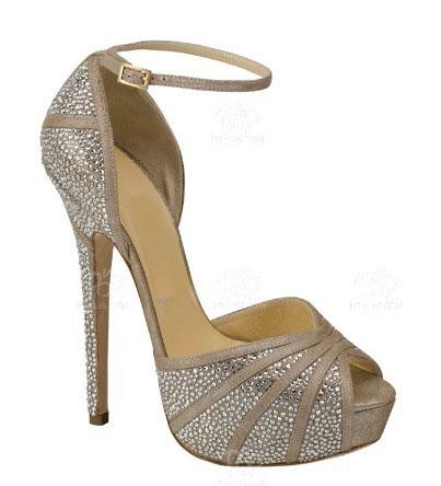 Ankle sole peep toe women high heel dress sandals