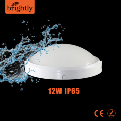IP65 Oyster light 12W Plastic Round LED Wall Lighting