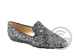 Women glittering pointed toe flat shoes