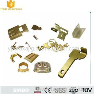 Custom Brass sheet metal stamping component fabrication parts