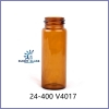 24-400 Amber EPA Vials with PTEF/Silicone Septa