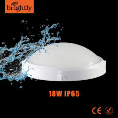 IP65 Oyster light 18W Plastic Round LED Wall Lighting