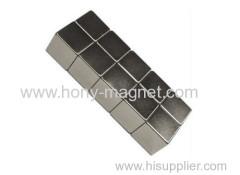 N48 высокая производительность цинка покрытия спеченного неодимовый магниты блок мощный