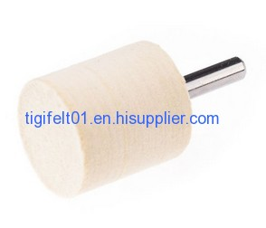 30mm*30mm Cylinder felt polishing bobs with shank 6mm