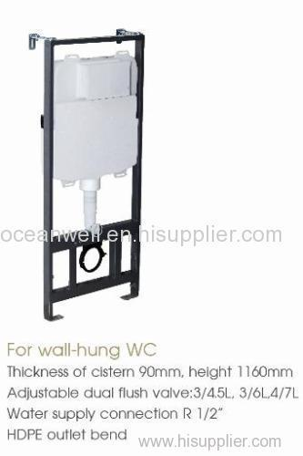 In-wall Concealed Toilet Cistern for Wall Hung Toilet