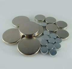 Axial Electrical Disc Magnets Nickel Coating N35 Grade