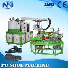 sandal pu pouring machine