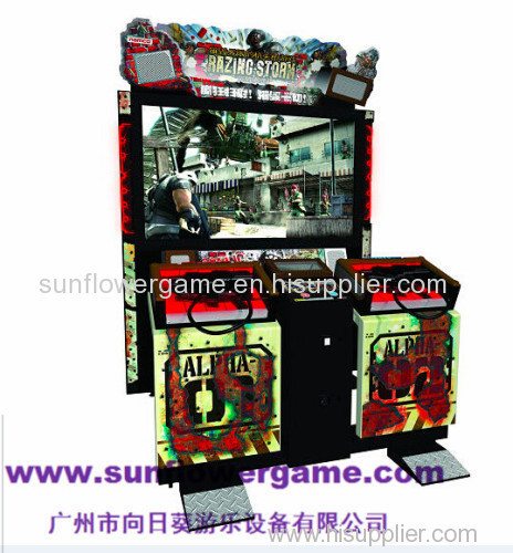 china supplier 55LCD Razing storm hammer shooitng arcade fight game machine metal cabinet