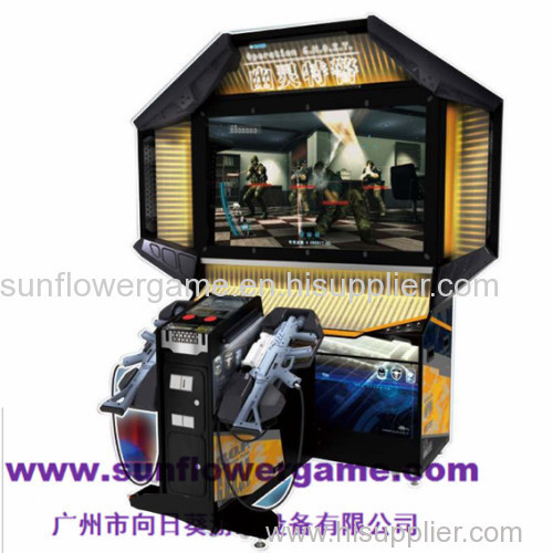 55''LCD crazy game ghost squad amazing simulator gun shooting machine