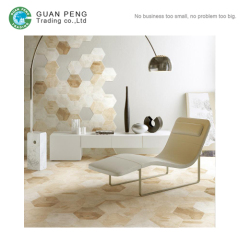Flower Pattern Hexagon Shaped Rustic Office Floor And Wall Tiles Design