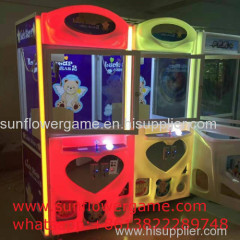 Excellent high quality toy crane claw machine for sale malaysia arcade coin operated prize vending kids toy claw crane g