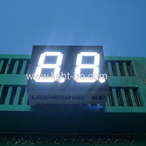 Ultra white 0.4  2-Digit 7-Segment LED Display for Home appliances