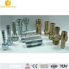 Brass Stainless Steel Male Round Straight Pneumatic Air Hose Fittings