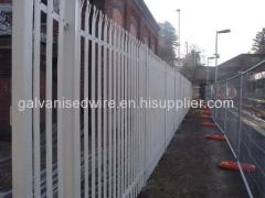 Top quality hot dipped galvanized palisade fencing
