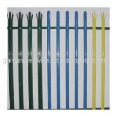 Hot selling China made pvc coated steel palisade fence