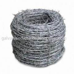 electro galvanzied barbed wire