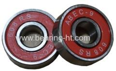 High precision Deep groove ball bearing colourful skateboard bearing 609