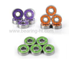 High precision Deep groove ball bearing colourful skateboard bearing 606