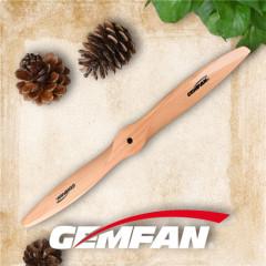 gemfan 1910 2 blades pusher prop aircraft gas motor wooden propeller