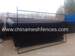 Canada pipe mesh powder coating portable fence panel