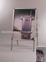 A-frame poster stand aluminium snap frame publicité panneau