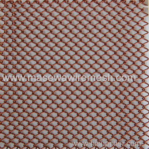 golden decorative mesh metal room divider