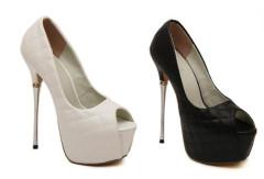High heel party peep toe women shoes