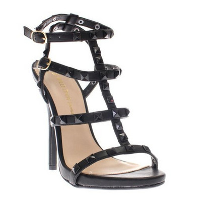 Strappy open toe high heel dress ladies sandals