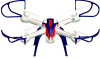 6 Axis Gyro Quad copter Rotate RC Drone Remote Control Toy Smart Plane with HD Wifi Camera 3D Flip Function Quadcopter