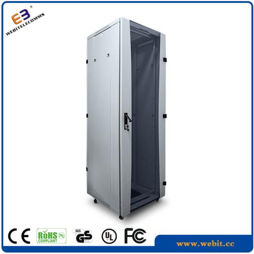 glass door standing server racks