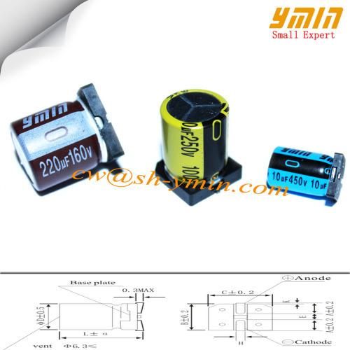 160V 220uF 20x21 5mm SMD Capacitors VKO Series 105C 6000 ~ 8000 Hrs