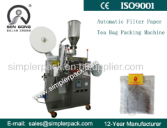 Simple Filter Paper Cameroon Tea Bag Packing Machine with Thread and Tag