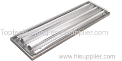 sheet steel cleanroom light fixture with stainless steel frame