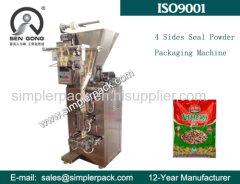 Four Sides Seal Bag Pepper Powder Packaging Machine Fully Automatic
