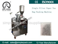 Automatic Single Filter Paper Bag Granule Tea Packaging Machine