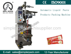Fully Automatic Three Sides Seal Bag Thick Liquid Paste Honey Packaging Machine