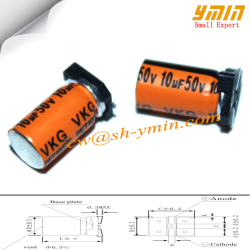 10V 50uF 5x10mm SMD Capacitors VKG Series 105C 8000 ~ 12000 Hours