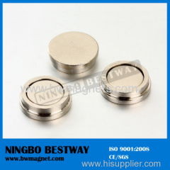Neodymium Pot Magnet with metal frame