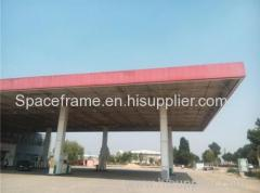 Outdoor Metal Space Frame Gas Station