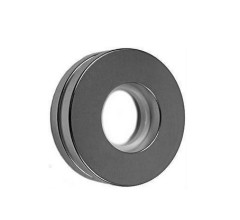 Permanent Neodymium Axial Ring Magnets N35 Grade Nickel Coating