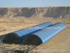 Estrutura de aço estrutura de espaço construção de carvão galpão de usina de energia