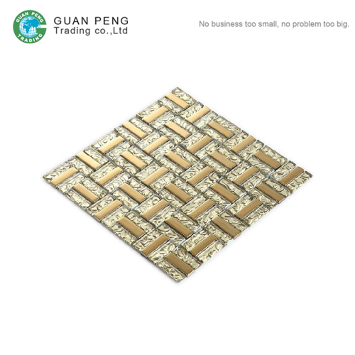 Cheap Backsplash Thickness 8 mm Crystal Glass Mosaic Tiles Panels