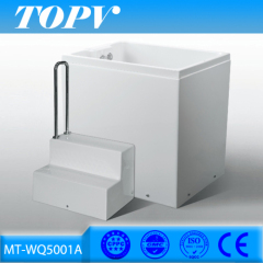 1 person apron empty sitting bathtub with ilac-MRA certificate for fat people
