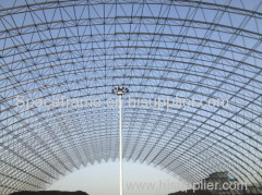 High quality long shed steel space frame coal shed