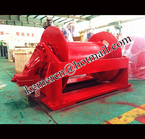 high quality hoisting hydraulic winch (marine winch dredger winch)