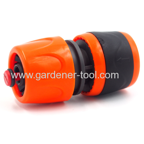 Plastic soft 5/8 inch garden hose quick connector with waterstop