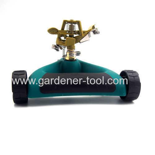 Metal rotary water impact sprinkler